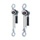 HARRINGTON LX Mini Lever Chain Hoist, 500 lb Load, 15 ft Lifting Height, 40 lb Rated, 16 ft Chain, 51/64 in Hook